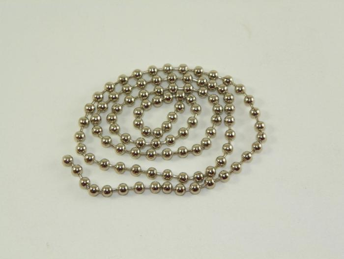 "18"" of bead chain material for making eyes on fishing flies"