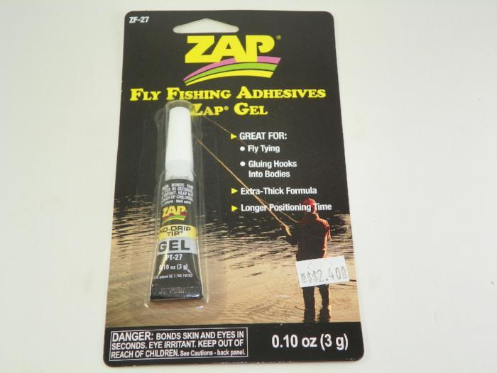 zap gel from Rangeley Maine fly fishing shop