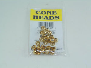 package of brass cones used tying weighted flies from Rangeley Fly Shop in Maine