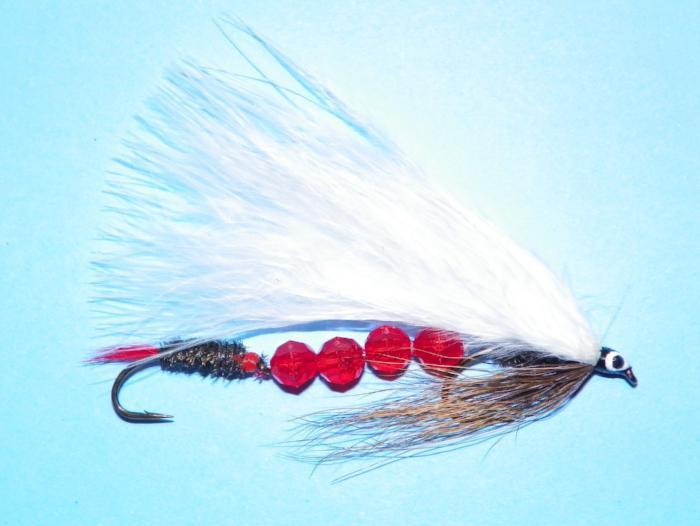 royal coachman with beads from Rangeley Maine fly fishing shop