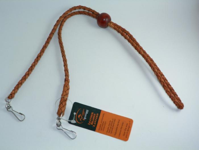 sportdog leather braided double lanyard from Rangeley Maine fly fishing shop