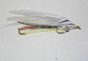 gray ghost tandem trolling fly from Rangeley maine fly shop