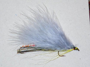 tandem trolling fly Marabou gray ghost from Rangeley Maine fly shop