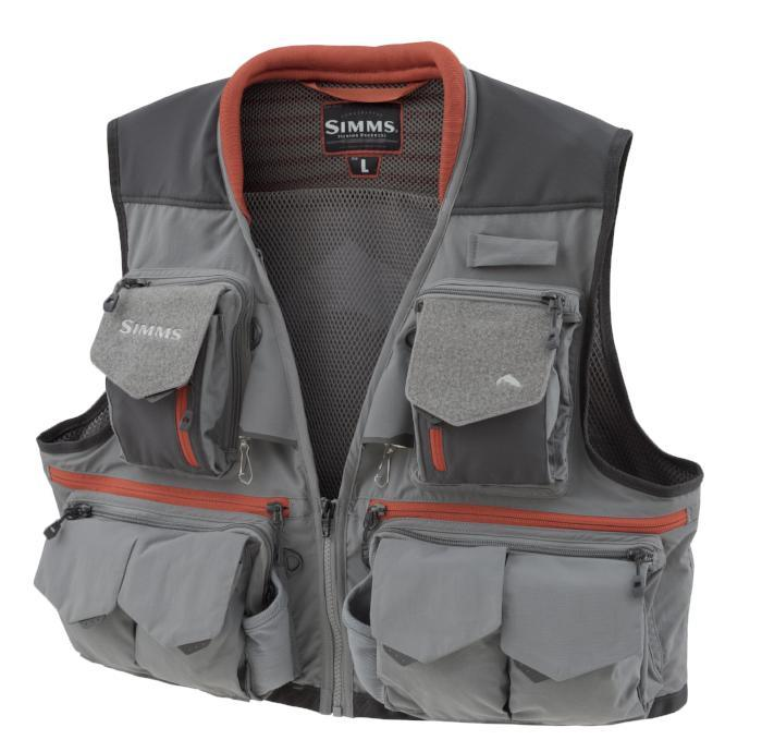 simms guide vest from Rangeley Maine fly fishing shop