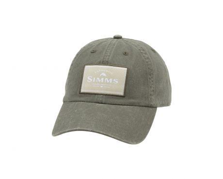 Simms low profile cotton twill hat with authentic Simms patch - Loden color