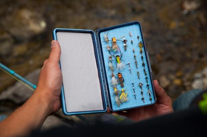 the flydrophobic sd fly box from tacky from Rangeley Maine fly fishing shop