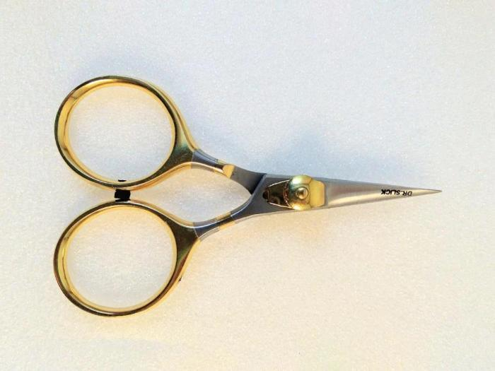 "4"" long razor scissors from Dr. Slick used for tying fly fishing flies"