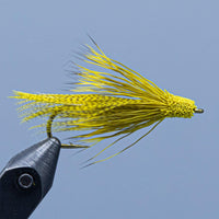 Yellow Kennebago Muddler fishing fly from a Rangeley Maine Fly shop