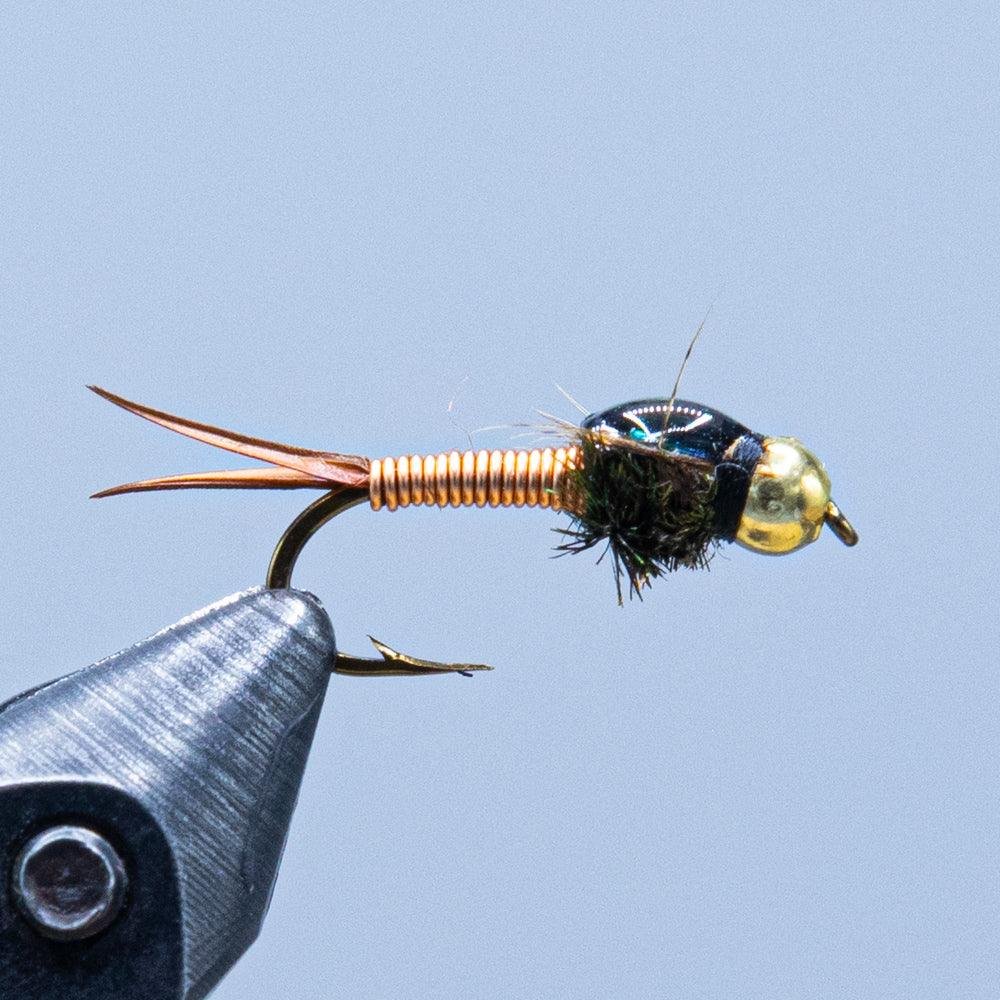 copper john at a maine fly shop