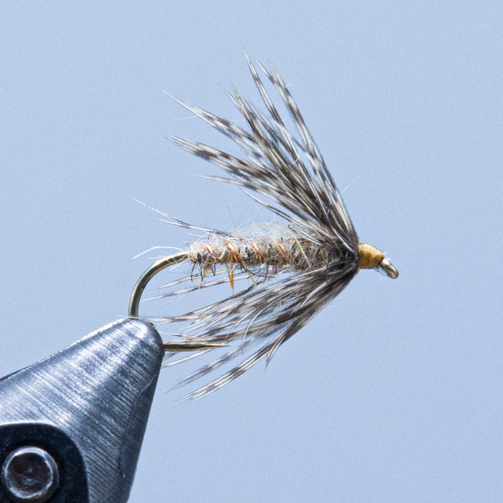 hares ear soft hackle at a maine fly shop