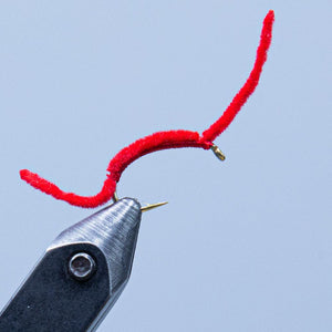 red worm at a maine fly shop