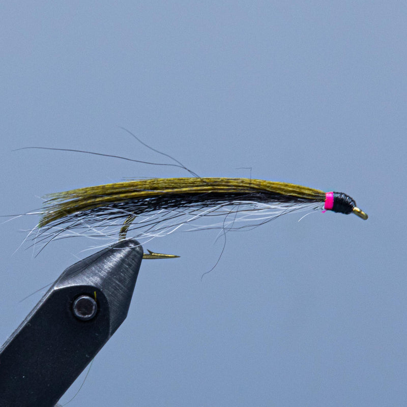 perkins smelt a flat wing streamer fly from a Rangeley Maine fly shop