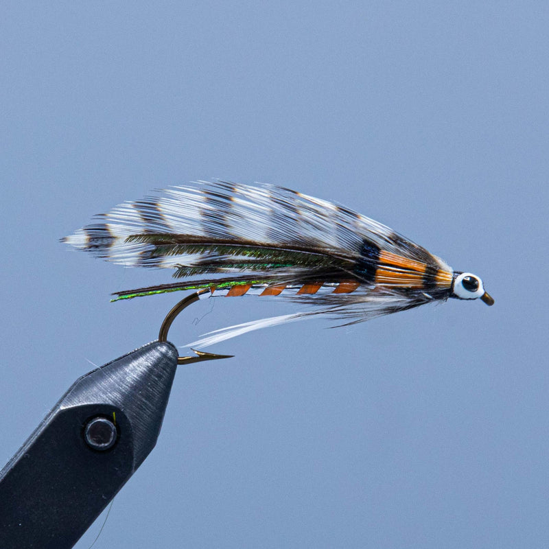 golden witch streamer fly tied in NH at a Maine fly shop