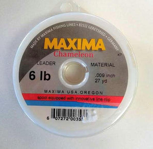 spool of Maxima chameleon leader from a Maineflyshop
