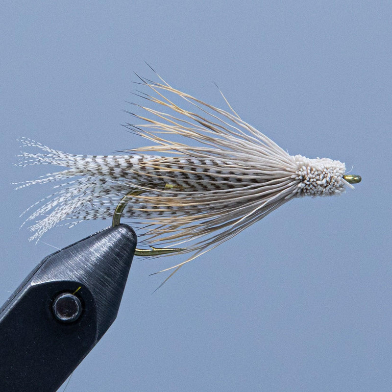 Natural tan Kennebago Muddler fishing fly from the Rangeley Region Sports Shop