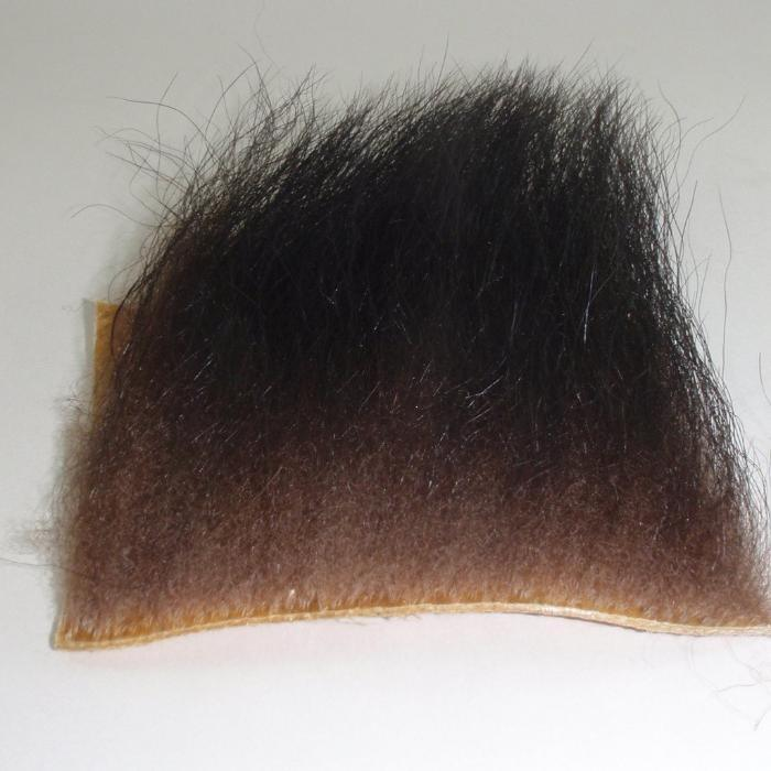patch of elk hair used for tying classic salmon fishing flies