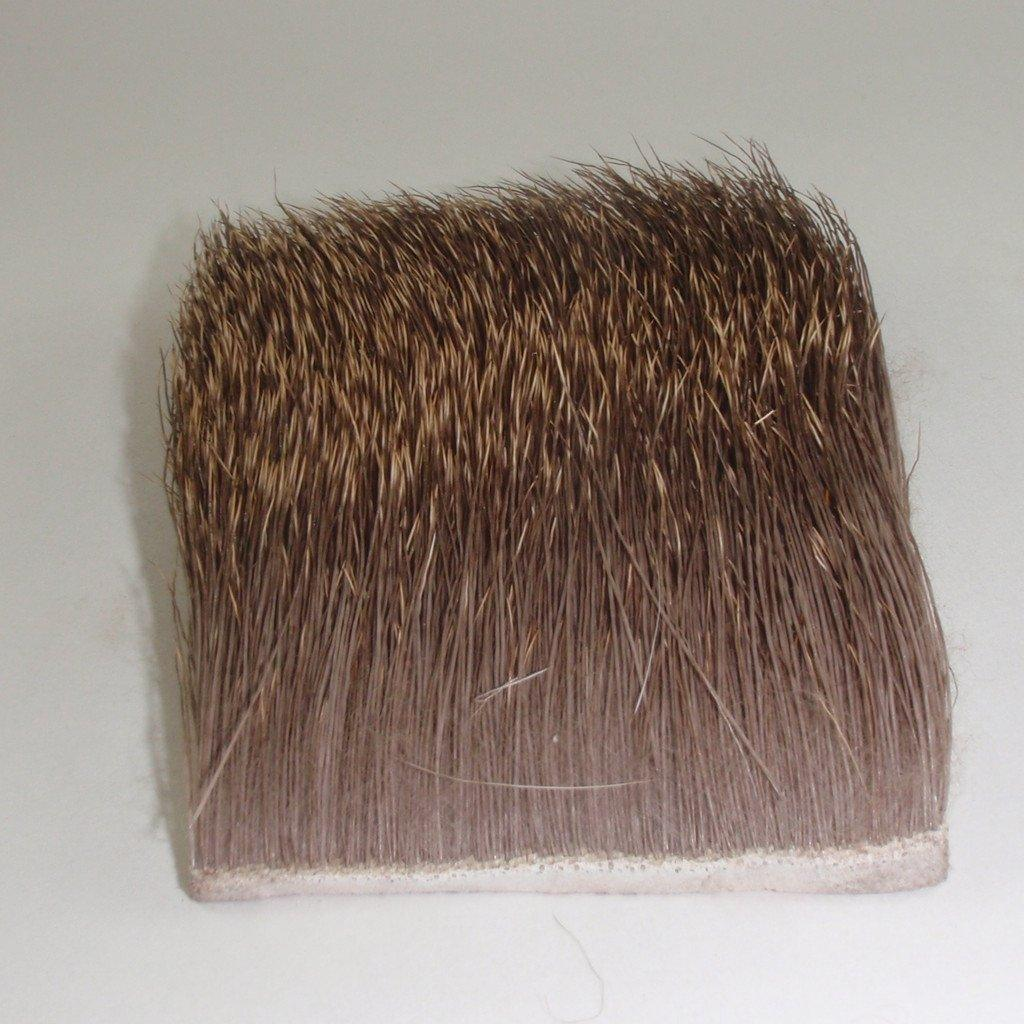 patch of elk hair used for tying flies