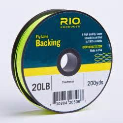 rio fly line backing from Rangeley Maine fly fishing shop