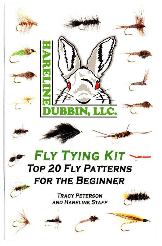 The cover of a beginner fly tying book with 20 fly pictures