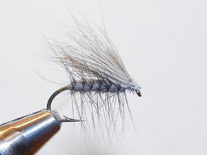 a gray deer hair caddis tied in Rangeley maine