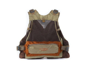 back view of Fishpond USA's Gore Range Tech Vest with mesh and large horizontal pocket