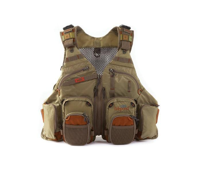 Fishpond USA's Gore Range Tech Vest with 17 pockets, gear attachment tabs and plenty of room for organizing fly fishing gear