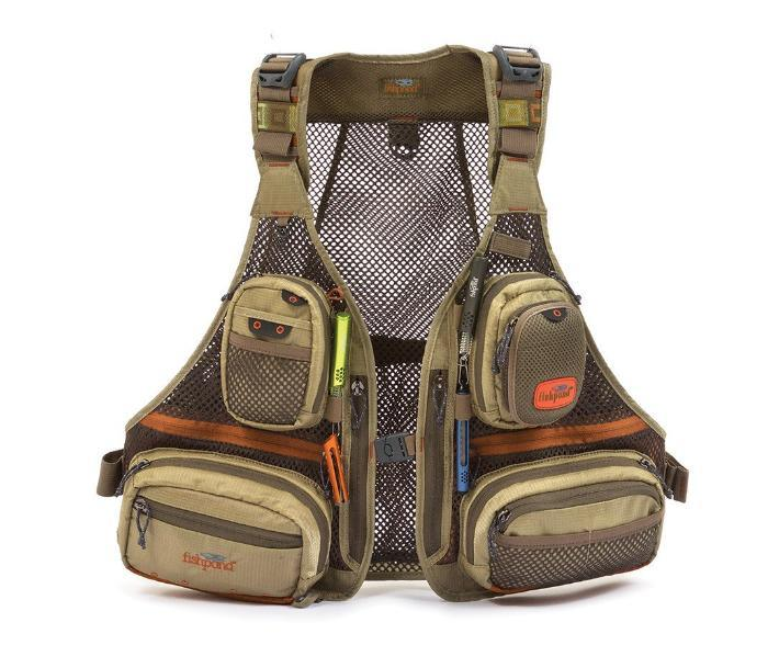Fishpond USA's Sagebrush Mesh Vest with 14 pockets and more for organizing fly fishing gear