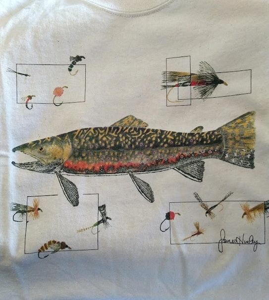 James Hurley Brook Trout with Flies T-Shirt