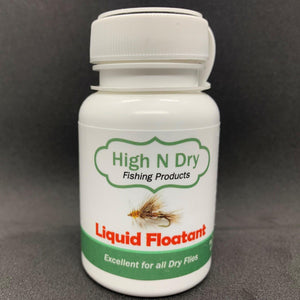 2 ounce bottle of High N Dry liquid floatant