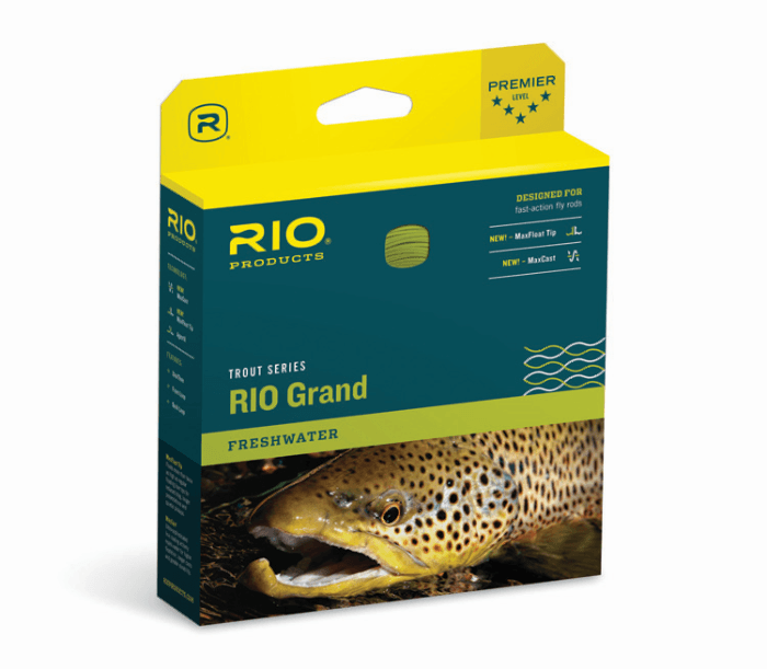 rio grand flyline from Rangeley Maine fly fishing shop
