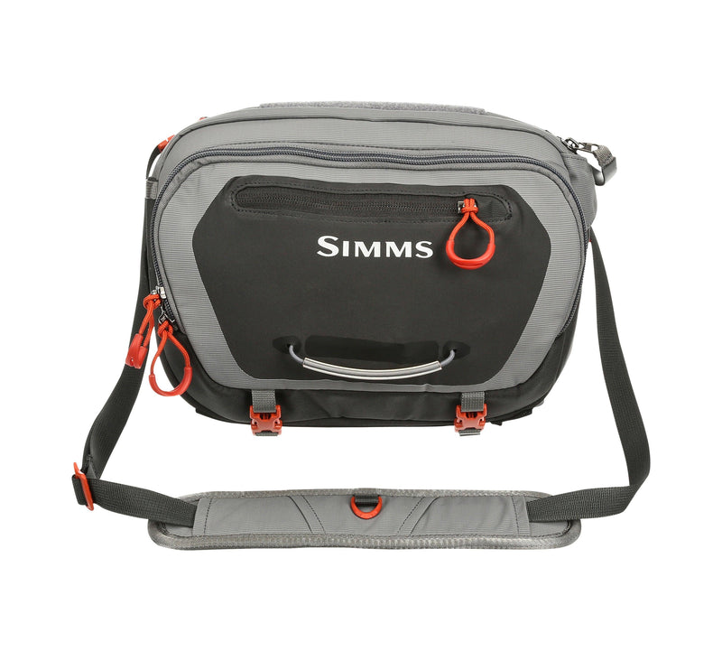 simms hip pack at a maine fly shop
