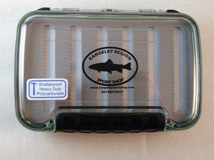 two sided waterproof fly box from Rangeley Maine fly fishing shop