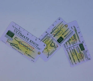 a set of cards with pictures of fishing knots and instructions