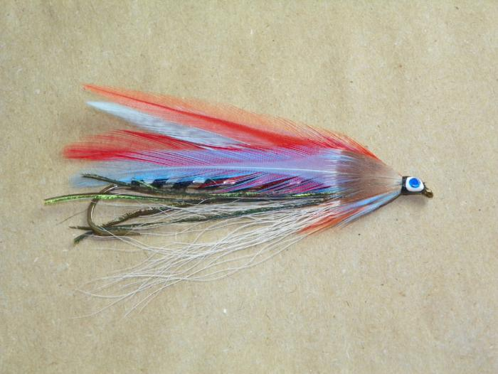 The blue devil 8x long colorful streamer fly for fly fishing or trolling
