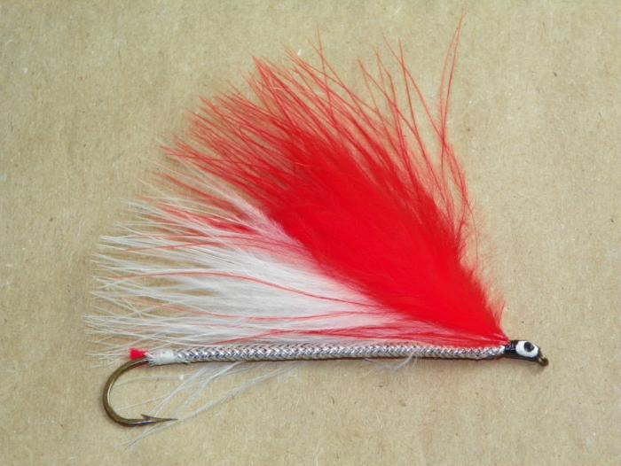 red and white marabou #2 8x long