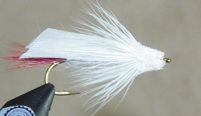 White Muddler from Rangeley Maine fly fishing shop