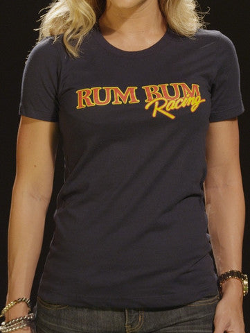 Rum Bum Racing - Logo - T-Shirt - Navy (Female)