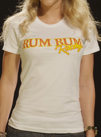 Rum Bum Racing - Logo - T-Shirt - White (Female)