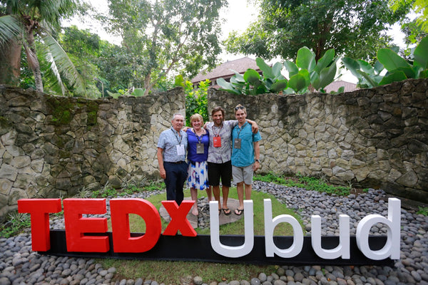 Kyle Parsons and family at TEDxUbud