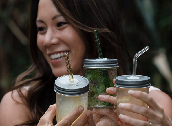 Reusable glass straws by Simply Straws