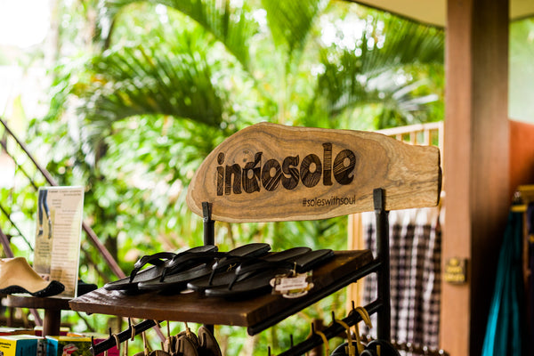 Indosole tire soled footwear at Yoga Barn in Ubud Bali