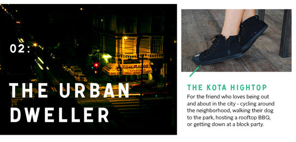 For the Urban Dweller: the Kota hightop
