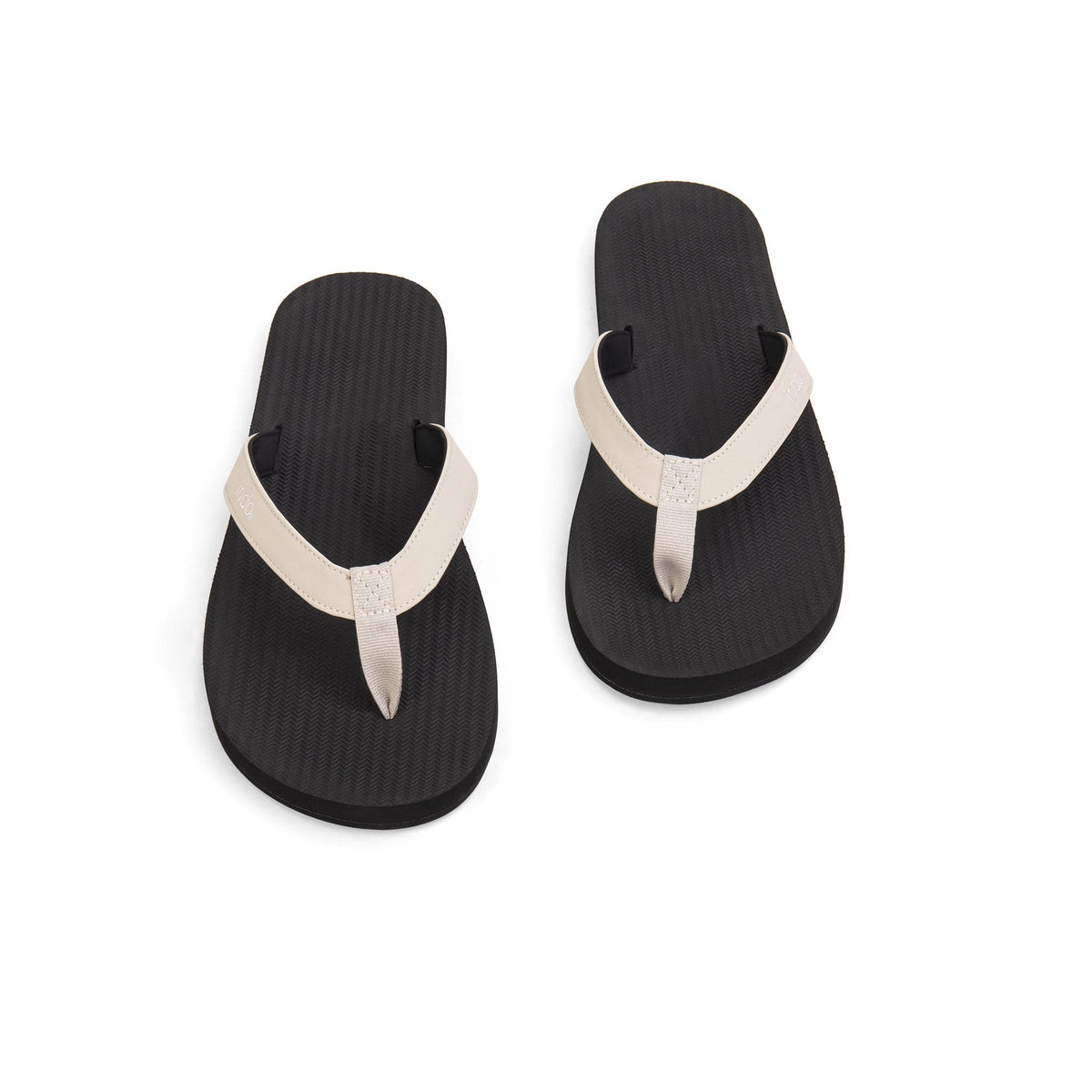 Mens Flip Flops Color Combo - Black/Sea Salt