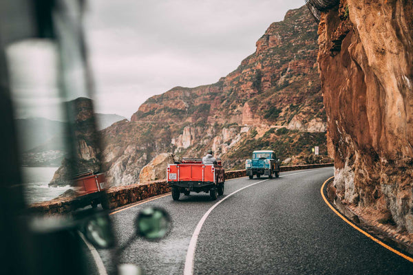 A colourful convoy in Cape Town