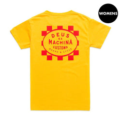 Checker Tee - Butterscotch Yellow