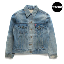 Ladies Rona Flight Trucker Jacket - Stonewash
