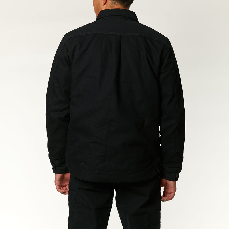 Maxwell Canvas Shirt - Black