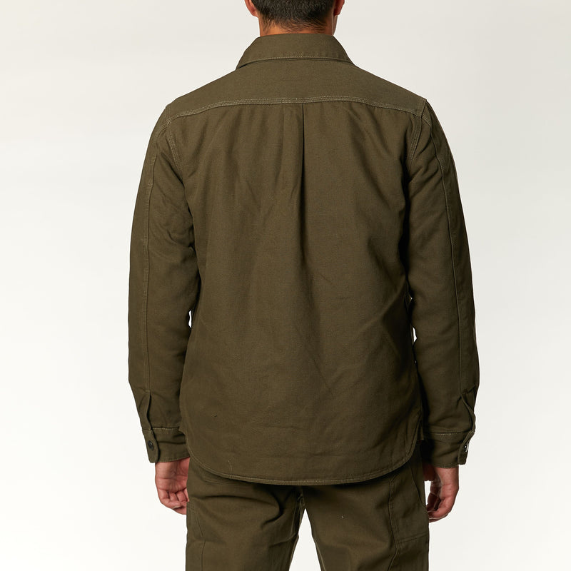 Maxwell Canvas Shirt - Dark Olive