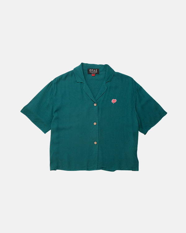 Donna Cropped Shirt - Teal