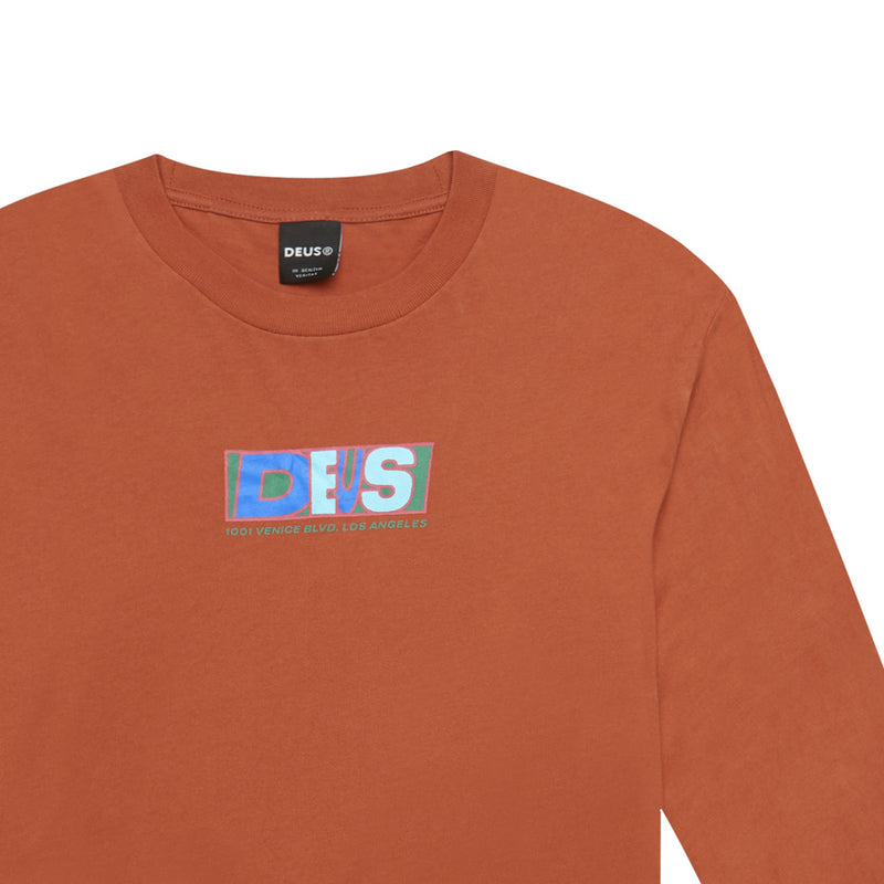 Quasimoto Long Sleeve Tee - Rust